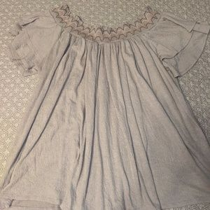 Knox Rose top, XL, embroidered